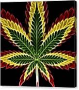 Rasta Marijuana Canvas Print