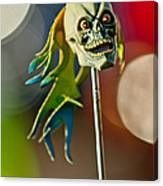 Rat Rod Antenna Skull  Canvas Print