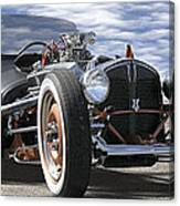 Rat Rod On Route 66 2 Panoramic Canvas Print