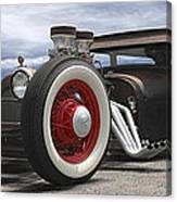 Rat Rod On Route 66 Panoramic Canvas Print