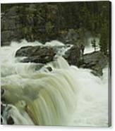 Rauma Waterfall Panorama Canvas Print