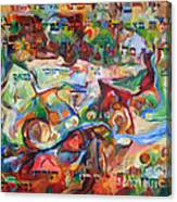 Rava Explicated Canvas Print