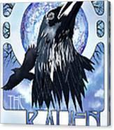 Raven Illustration Canvas Print