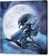 Raven Moon Canvas Print