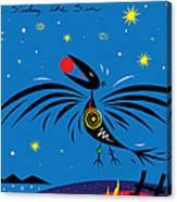 Raven Stealing The Sun Canvas Print