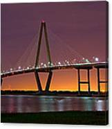 Ravenel Bridge At Night Canvas Print