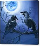 Raven's Moon Canvas Print