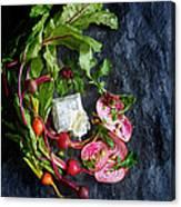 Raw Beeet Salad Ingredients Canvas Print