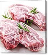 Raw Lamb Chops Canvas Print