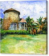 Rawlin's Plantation Inn St. Kitts Canvas Print