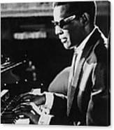 Ray Charles At The Piano Canvas Print
