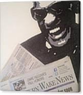 Ray Charles Reading Canvas Print
