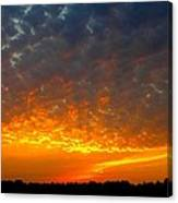 Rays Of Fire Canvas Print