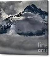 Rays Of Light On The Glaciers Canvas Print