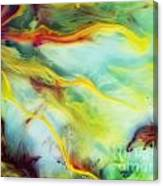 Rays Of The Sun Watercolor Abstraction Painting Canvas Print