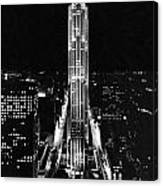Rca Building At Night In Nyc Canvas Print