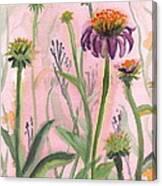 Reaching Flowers Canvas Print