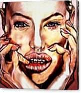 Read My Lips Canvas Print