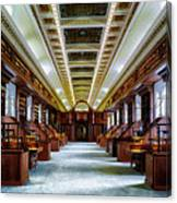 Reading Room In The Library Of Congress Canvas Print