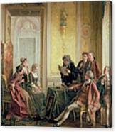 Reading The Will Canvas Print