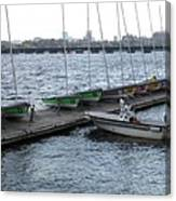 Ready And Waiting On The Charles Canvas Print
