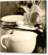 Ready For Afternoon Tea And Biscuits Canvas Print