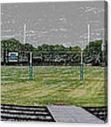 Ready For The Football Season Panorama Digital Art Canvas Print