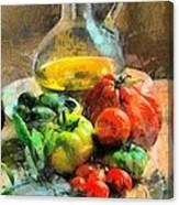 Ready For The Italian Sauce Canvas Print