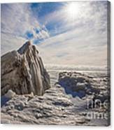 Ready To Let Loose Ice Formation Canvas Print