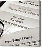 Real Estate Listing Presentation  Canvas Print