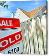 Real Estate Sold Sign Canvas Print