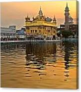 Real Gold At Golden Temple Canvas Print