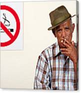 Rebel Smoker Canvas Print