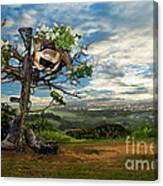 Rebirth Of A Fallen Soldiers Cross Canvas Print