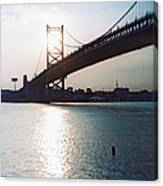 Recesky - Benjamin Franklin Bridge 1 Canvas Print