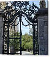 Recidence Garden Gate - Wuerzburg Canvas Print