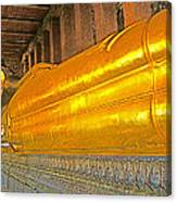 Reclining Buddha In Wat Po In Bangkok-thailand Canvas Print