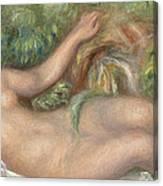 Reclining Nude La Source Canvas Print