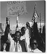 Recognize Martin Luther King Day Rally Tucson Arizona 1991 Black And White Canvas Print