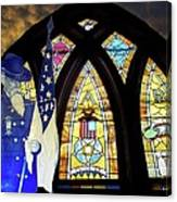 Recollection Union Soldier Stained Glass Window Digital Art Canvas Print