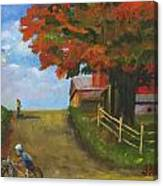 Recreation On A Fall Day Canvas Print