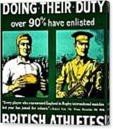 Recruiting Poster - Britain - Rugby Canvas Print