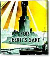 Recruiting Poster - Ww1 - For Liberty's Sake Canvas Print