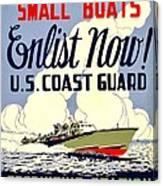 Recruiting Poster - Ww2 - Coast Guard Canvas Print