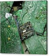 Recycling Computer Circuit Boards Canvas Print