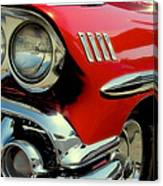 Red 1958 Chevrolet Impala Canvas Print