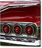 Red 1960 Chevy Tail Light Canvas Print