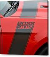 Red 302 Boss Mustang Canvas Print