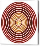 Red Abstract Circle Canvas Print