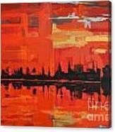 Red Amazon Sunset Canvas Print